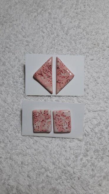 Bunda od pravog krzna - Vrnjacka Banja: Unikatne minđuše od polimerne gline, udice od nerđajućeg čelika, rozi