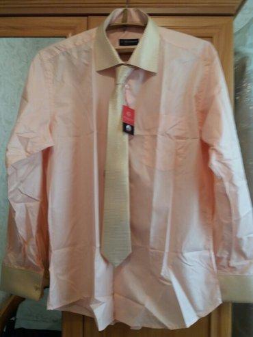 Рубашка шикарная размер 56  xxl. Новая. с запонками. в Бишкек