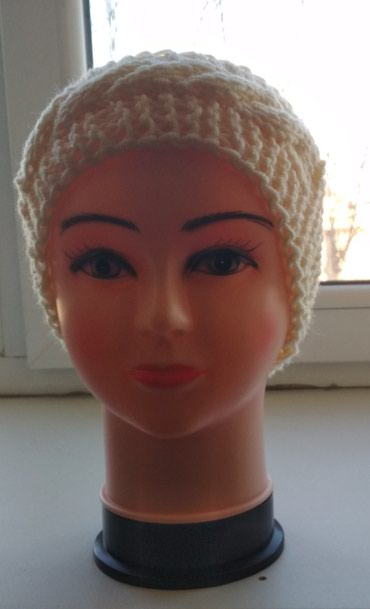 Вязаная повязка на голову, узор косы. в Бишкек