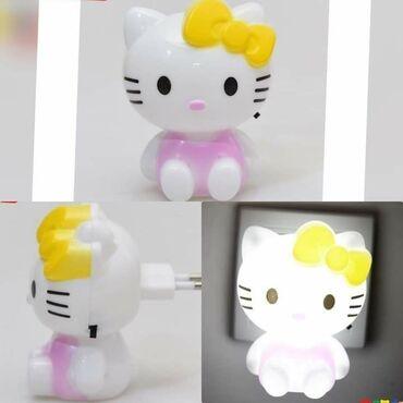 Lampe - Srbija: Hello Kitty Plastična noćna led lampa sa prekidačem  10 x 8cm
