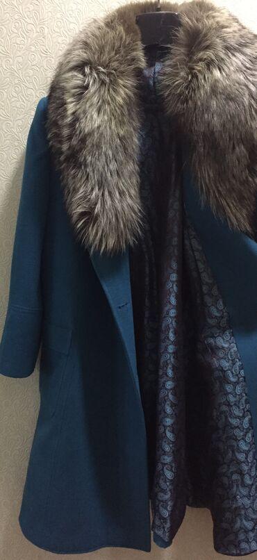 женские черные кроссовки в Азербайджан: Firuzəyi rəngdə palto. Az geyinilib, heç bir problem yoxdur