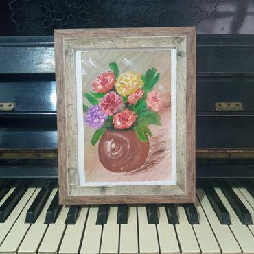 """Картина """"Цвета на вазе""""Картина подарок для души!Самый креативный и"""