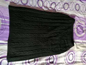 Zenski suknja - Srbija: Zenska crna trilotazna suknja, duzine ispod kolena Velicina univerzaln