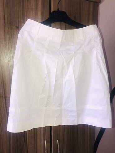 Белый костюм 44 размера.Юбка до колена