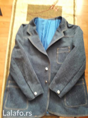 Teksas jakna i pantalone za coveka 130-140kg siveno. Novo ne noseno. - Vrsac