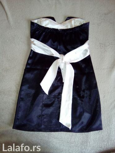 Crna svečana haljina sa mašnom u boji šampanjca. - Sombor