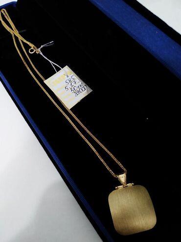 Золото, цепь с кулоном 585 пробы жёлтое золото. Цена 17300. Совершенно