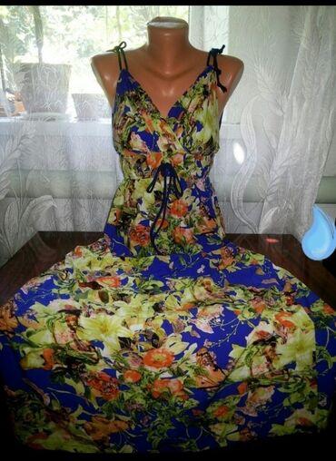 Личные вещи - Манас: Женский летний сарафан в новом состоянии. Хлопок. Качество и пошив отл