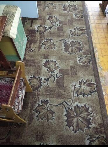 Продаю ковровую дорожку. В коричневом цвете. Состояние среднее