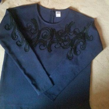 Vero moda elegantna teget bluza, siri oversize model. Nenosena - Ruma