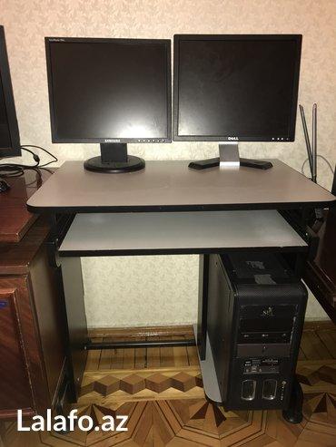 Bakı şəhərində Стол+Монитор+Компьютеркомпьютерный стол в хорошем