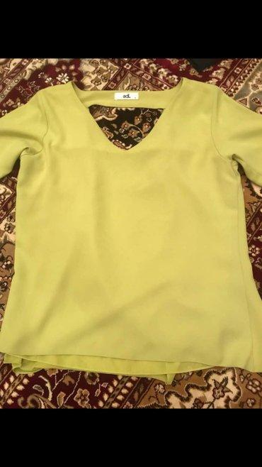 туника желтая в Кыргызстан: Шикарная блузка! турция! новая! размер с/м