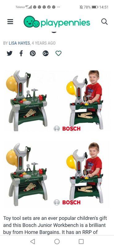 Bosch junior workbench alatNOVO, otvoreno samo za slikanjeVisina oko