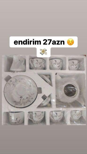 azerbaycan ekran kartı в Азербайджан: Endirim -27azn 💸🛍6 stəkan 6nəlbəki, bir ədəd dəm çayniki, bir ədəd