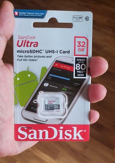 Sandisk 32 Gb Klass 10 yaddaş kartı telefon üçünSürət - 80 Mb