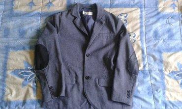 Sako za decake br. 128 ili br. 8 za 7 godine,  sive boje na laktovima  - Smederevo