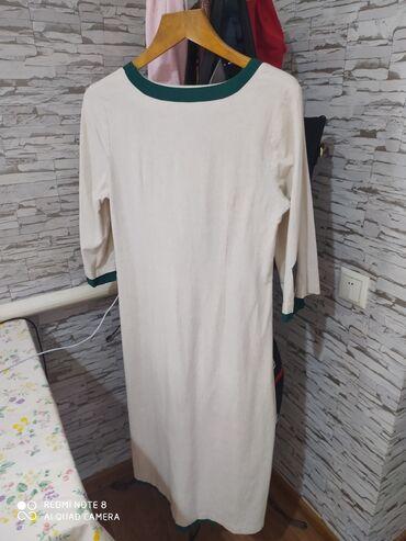 Продаю женское платье из льна. Размер:46-48. Сшито на заказ. В отлично
