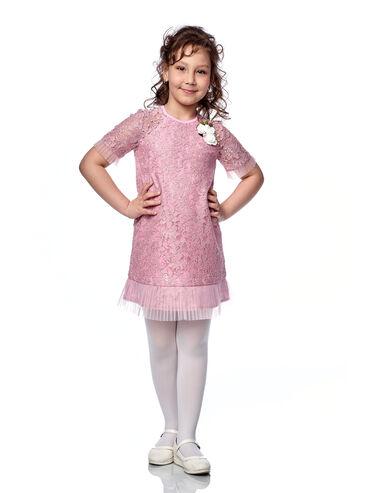 трикотаж платья в Кыргызстан: Нарядное платье для девочкиАртикул: АгатаРазмер: 116, 122, 128