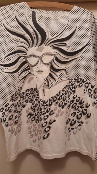 Ženska bluza od pamuka sa sjajnim ukrasima na naočarima ledja u - Belgrade