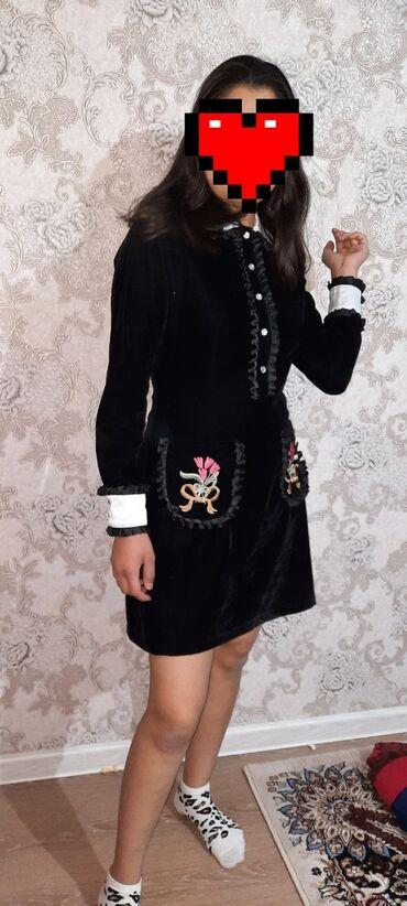 маленькое черное платье для полных в Кыргызстан: Продаю очень красивое,богатое,турецкое платье на рост 165.Размер