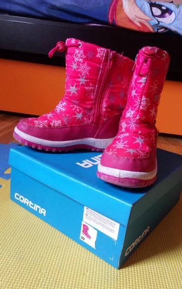 Cortina čizme za sneg,nepromočive i postavljene iznutra, nošene - Novi Sad