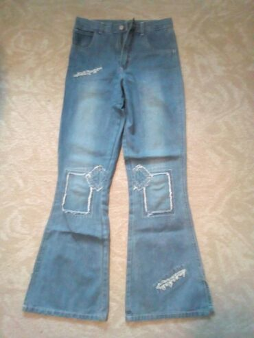 Dečije Farmerke i Pantalone | Sabac: Dečije zvonaste Texas pantalone vel. 164, očuvane, bez oštećenja