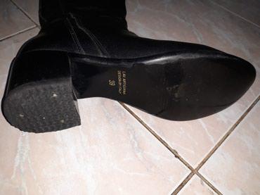 Crne kozne duge cizme,nosene ali ocuvane,vel.39....cena 1.000 - Smederevo - slika 2