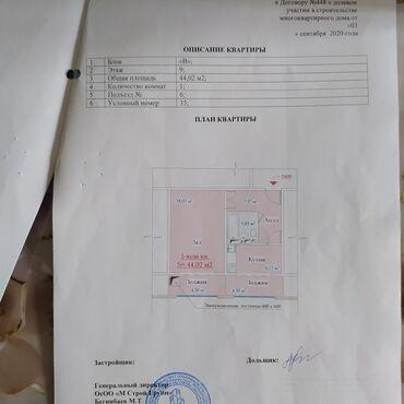 продается квартира в бишкеке в Кыргызстан: 1 комната, 44 кв. м