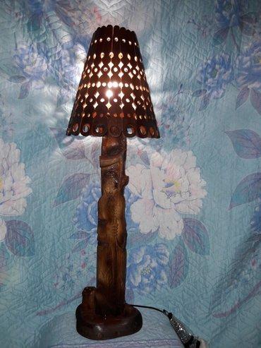 Другие товары для дома в Таджикистан: Художественная резьба по дереву. светильник на столиный !Старец