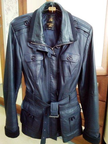 Куртка aviano кожа мягкая натур. темно-синяя р. 3xl сост. оч. хорошее. в Бишкек