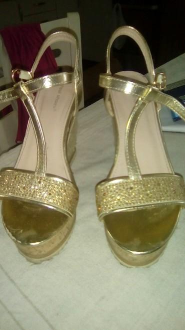 Zlatne baletamke - Srbija: Zlatne sandale br 38, nošene par puta