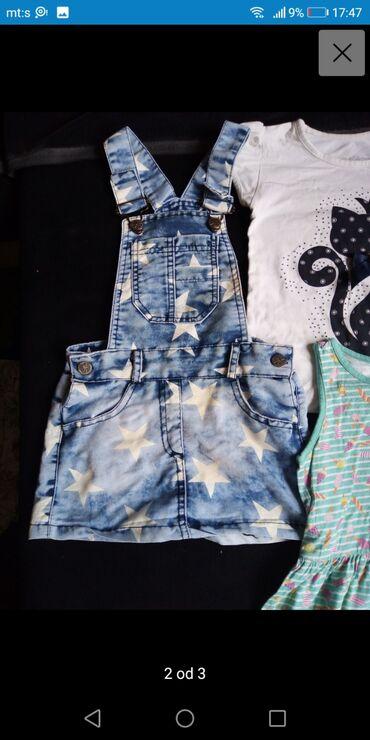 Paket za devojcicu od 4-5god kao novo haljina tanji teksas prijatan za