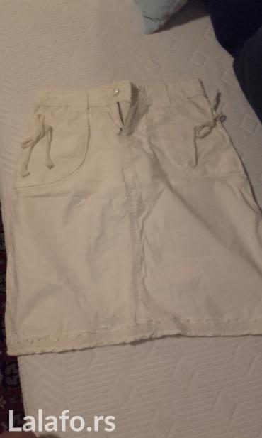 Bela-haljina-sa-cipkom - Srbija: Lepa bela suknja sa diskretnom cipkom,velicina s,pamuk
