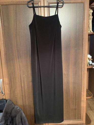 Базовое черное платье, по щиколотку, размер 36, Турция, надевала 2-3