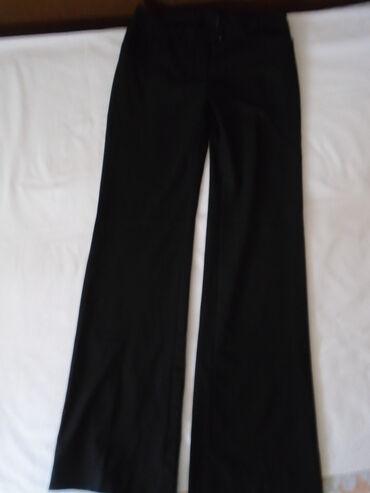 Poslovno elegantni komlet - Srbija: H&M crne poslovne pantalone, intenzivno crne, elegantne, klasične