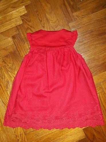 Haljina-sa-rukavotila-duzina-c - Srbija: H&M haljina za bebe, velicina 68-74. Crvena haljinica, pamucna