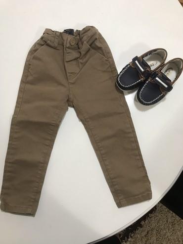 Pantalone m tamno braon imaju dva zakopcavanja napred - Srbija: Elegantne pantalone beba kids vel.92, imaju lastih! cipelice prodate