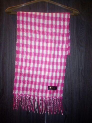 Шарф теплый фирменный 350сом розовый
