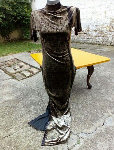 Haljine   Indija: Duga plisana haljina obim grudi 84cm