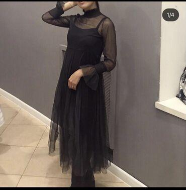 Платье В чёрно-сером красивом цветеРазмер 44 (S)Состояние отличное500
