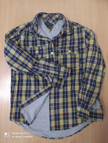Рубашка с подкладом, голубая рубашка и форма для футбола. Вещи на 7-9
