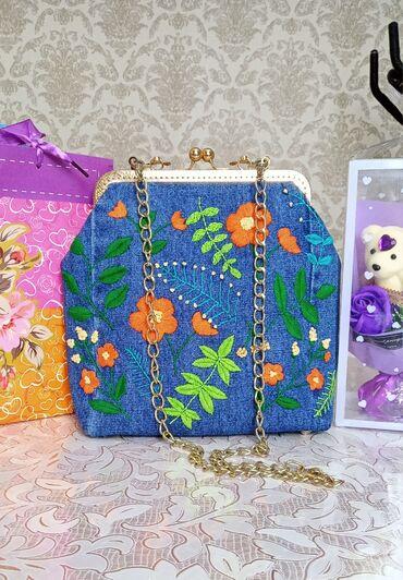 Аксессуары - Беловодское: Продаю сумку ручной работы. Вышивка сделано полностью ручными