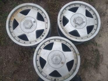 диски титановые в Кыргызстан: Продам титановые диски на Ауди 3 штуки. 15 размер