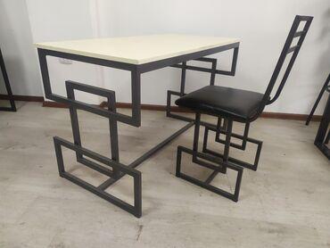 стол стулья для зала in Кыргызстан | КОМПЛЕКТЫ СТОЛОВ И СТУЛЬЕВ: Стол письменный обеденный, металл(профиль 30*20), ЛДСП. делаем на