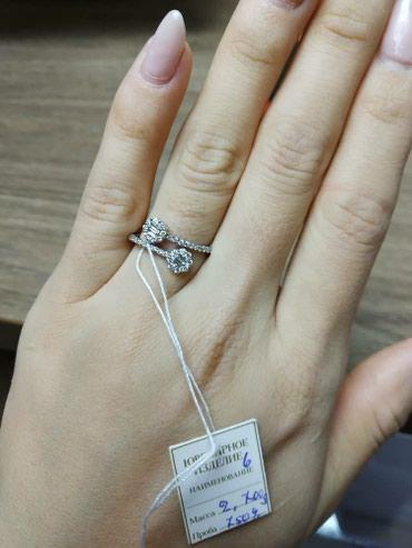 Продается кольцо, белое золото 750', в Бишкек