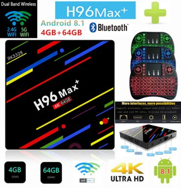 H96 MAX PLUS Smart tv box Android 8.1 4GB RAM/64GB ROM + I8 Backlight - Belgrade