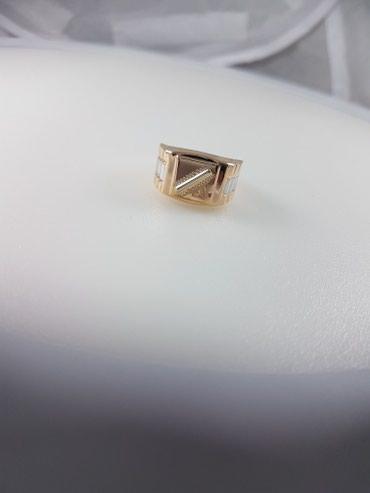 Печатка из красного золота 585проба размер кольца 21.5 в Бишкек - фото 3