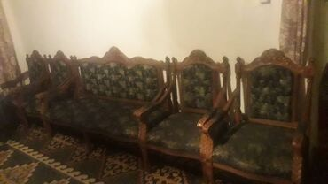 Спорт и хобби - Ала-Тоо: Начало 20- века, чистое дерево, антиквариат, диван и 4 кресла