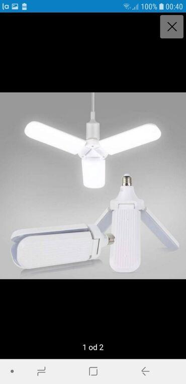 LED Lampa u obliku ventilatoraJednostavna instalacija, obezbedjuje