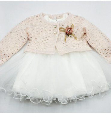 красивое платье с балеро для девочки размер 12 м, турецкое,новое , 110 в Бишкек